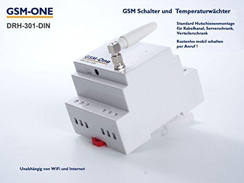 GSM SMS Fernschalter und Temperaturwächter, DIN-Rail, mit Alarmfunktion, Mobil Schalten, Smart Home, DRH-301-DIN - Schalten Des Alarm