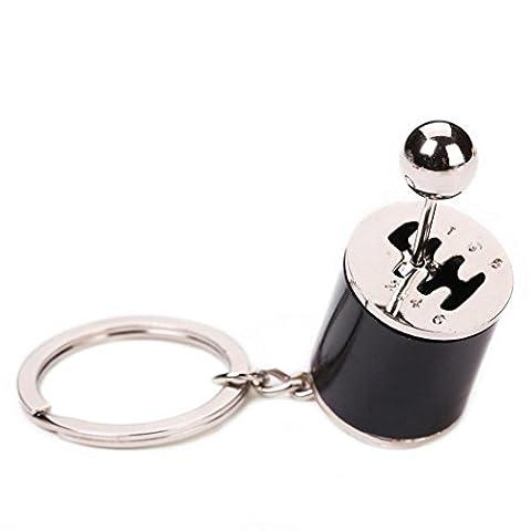 Ularma Alloy Getriebe Schlüsselanhänger Auto Part Six-Speed Manual Transmission Keychain Taschenanhänger (Schwarz)