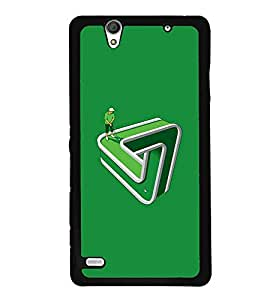Crazymonk Premium Digital Printed Back Cover For Sony Xperia C4