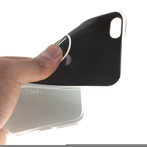 Ooboom® iPhone 5SE Coque TPU Silicone Gel Housse Étui Cover Case Souple Légère Ultra Mince pour iPhone 5SE - Chouette Don't Touch My Phone