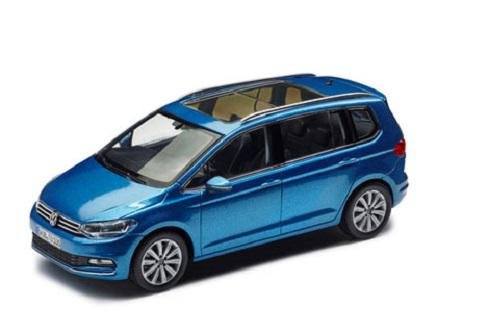 Preisvergleich Produktbild VW Touran Modellfahrzeug 1:43 Caribbean Blue Metallic - 5TB099300Q5Y