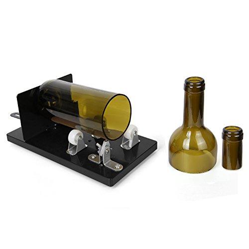Flaschenschneider, Genround [UPGRADE 2.1] Glasflaschenschneider | Runde / Quadratische / Ovale Flasche vom Hals bis zum Body | Glass Bottle Cutter Maschine Weinflasche Glasflaschen Schneider Glasschneider für flaschen Schneidwerkzeug