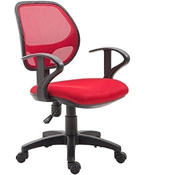 IDIMEX Chaise de Bureau pour Enfant Cool Fauteuil pivotant et Ergonomique avec accoudoirs et Dossier ventilé, siège à roulettes avec Hauteur réglable,