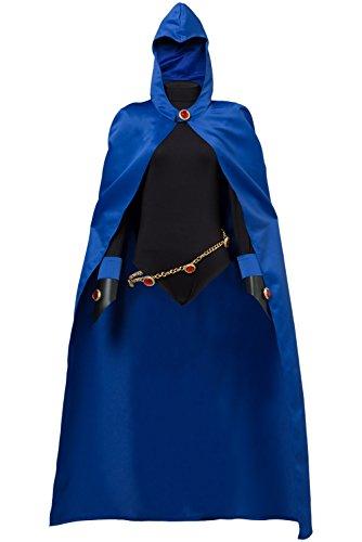 Teen Titans Raven Outfit Cosplay Kostüm Damen - Raven Cosplay Kostüm