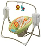 Best Baby Swing And Bouncers - Fisher-Price Rainforest SpaceSaver Cradle-n-Swing Review