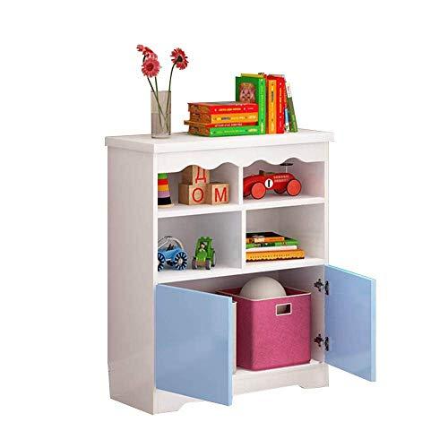 WJSW Regal Regal Kleines Bücherregal, 90 * 30 * 80CM, 90 * 30 * 100CM, Lagerschrank mit Tür Maximale Belastung 100kg (Farbe: B, Größe: 90 * 30 * 100CM) -