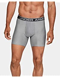 Pack de dos calzoncillos boxer de Under Armour Original Series, de 15,24 cm. , XL, True Gray Heather/ Carbon Heather/ Carbon Heather