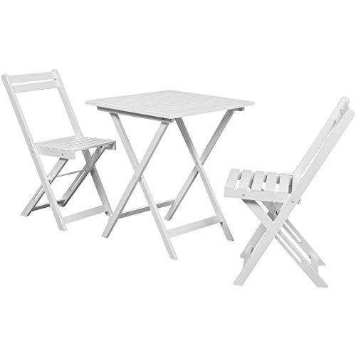 vidaXL Balkonset Balkonmöbel Garnitur Bistroset Sitzgruppe Tisch Akazienholz