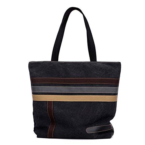 Ladies singola borsa a tracolla,borsa di tela,borsetta-nero nero