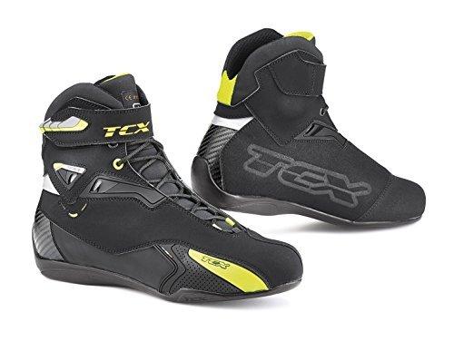 TCX Stivali da Moto Rush WP Nero/Giallo, Nero/Giallo, 45