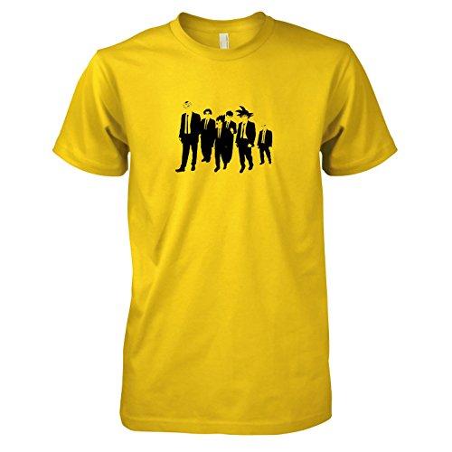 Reservoir Dogs Kostüm - TEXLAB - DBZ: Dogs - Herren T-Shirt, Größe L, gelb