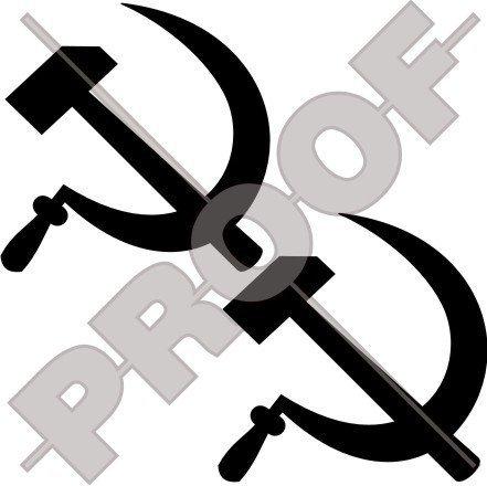 HAMMER & SICHEL Sowjetischer Kommunist 75mm Auto & Motorrad Aufkleber, Vinyl Stickers x2 - WAHL VON 22 FARBEN