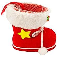 westeng Navidad bolsa de caramelos bolsa de regalo bolsa forma de bota adorno decoración de Navidad