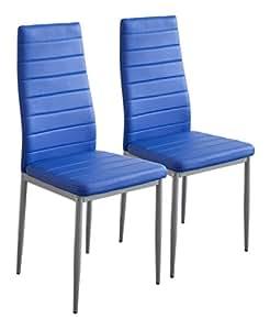... 2869 MILANO - Set di 2 sedie da pranzo, blu: Amazon.it: Casa e cucina