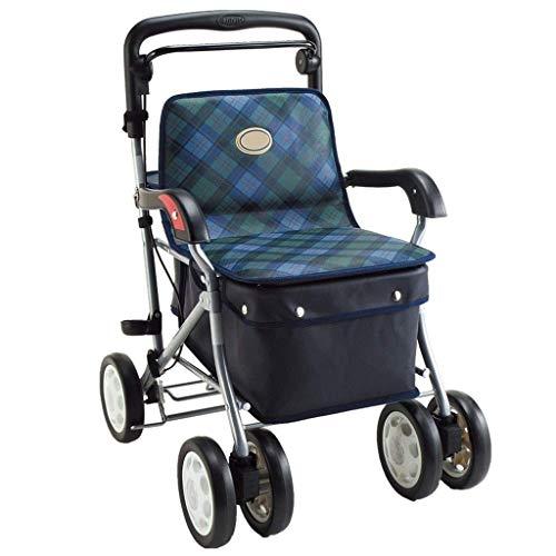 ZXL Standardwanderer \\u0026 Gehhilfen Walker Seniorenunterstützter Roller Einkaufswagen Walker Seniorenwagen Reha-Trainingsgeräte für die unteren Extremitäten (Farbe: B, Größe: 65 * 51 cm)
