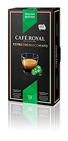 Café Royal Espresso Macchiato, 50 kompatible Kapseln für Nespresso, 5er Pack (5 x 10 Kapseln)