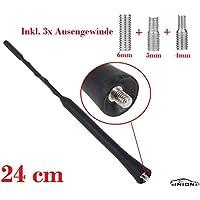 spezial Bolzen M4 M6 Adapter innenge M6 Radioantenne UKW AM M5 GELAN/® KfZ Autoantenne Dachantenne Antenne ANT//03S 500475-41 cm inkl FM
