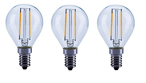 LED FILAMENT Tropfen 2W (25W) E14 827 360°KLAR 3ER-PACK