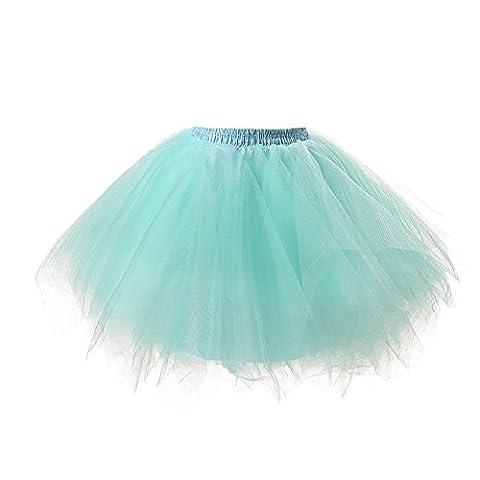 PerfectDay Women's Tutu Petticoat Skirt Prom Evening Occasion Accessory Mint