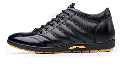 Chaussure de ville homme hauteur cheville invisible chukka moderne derby confort escarpin soulier cuir commercial Noir