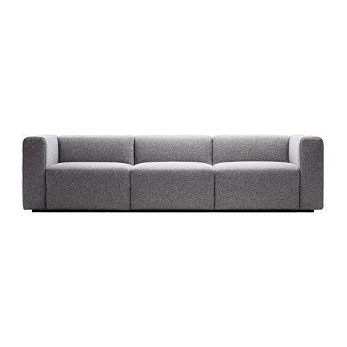 HAY Mags 3-Sitzer Sofa 268.5x95x67cm, hellgrau Stoff Hallingdal 130
