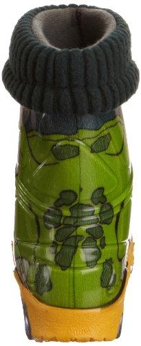 Toughees Warm Fleece-sock Croc Wellies, Bottes de Pluie mixte adulte Vert - Vert