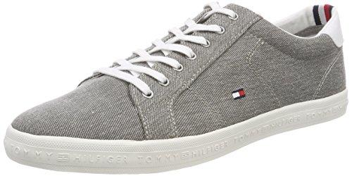 Tommy Hilfiger Herren Essential Long Lace Sneaker, Grau (Light Grey 004), 45 EU