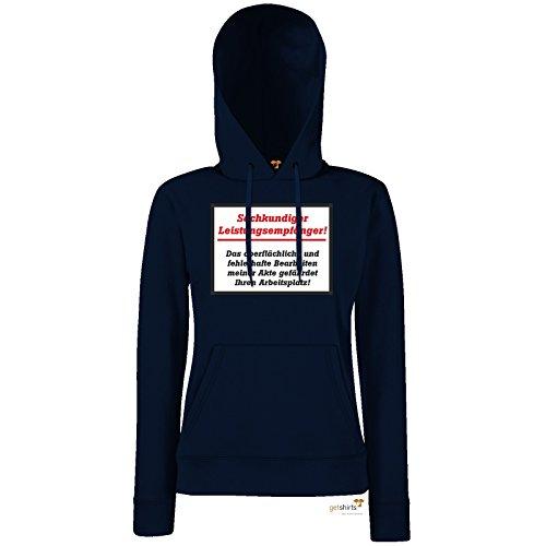 getshirts - RAHMENLOS® Geschenke - Hoodie Damen - Sachkundiger Leistungsempfaenger Arbeitsplatz - dunkelblau XL