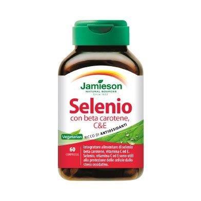 Selenio con beta carotene C&E - Jamieson - integratore alimentare di selenio, beta carotene, vitamine C e E
