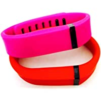 Preisvergleich für ! Small S 1pc Purple / Pink 1pc Red (Tangerine) Replacement Bands + 1pc Free Small Grey Band With Clasp for Fitbit FLEX Only /No tracker/ Wireless Activity Bracelet Sport Wristband Fit Bit Flex Bracelet Sport Arm Band Armband