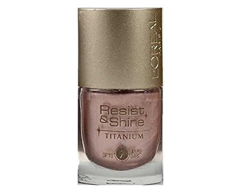 L'Oreal Resist & Shine Titanium Nagellack - 305 Pearl Bronze