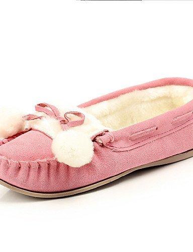 Botas Bege Casuais Rosa Femininos Marrom Conforto Claro Calçados Azul Plana Sapatos Boot Calcanhar De Camurça Shangyi Azul qO1xatwYO