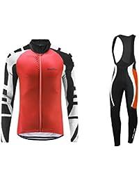 Uglyfrog 2016 Manga larga Maillot+Bib Pantalones cortos Bodies Ciclismo De Hombre Autumn with Fleece Style Ropa De triatlon Transpirables Cycling Sets HDZ26