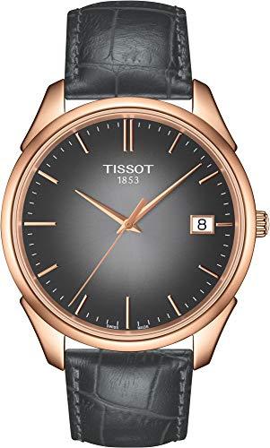 Tissot vintage nero quadrante nero in pelle mens orologio T9204107606100