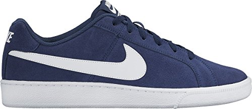 Nike court royale suede, sneaker uomo, blu (midnight navy/white), 41 eu