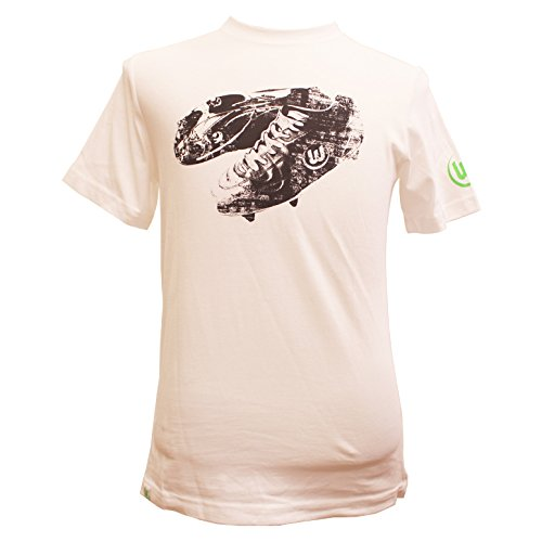 VfL Wolfsburg-Camiseta fútbol zapato blanco Talla:small