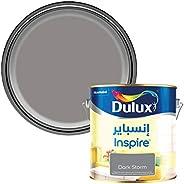 Dulux Inspire Interior Silk Long Lasting Colour Paint for Walls & Ceilings - Dark Storm 4 Li