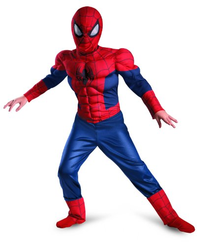 Jungen Kleinkind Kostüm Spiderman (Disguise Costumes Boy 's Marvel Ultimate Spider-Man Classic Muscle Kostüm, 7–8)