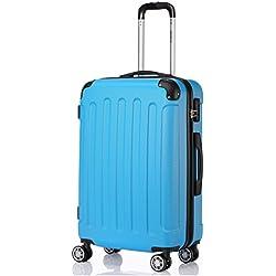 BEIBYE 2045 Hartschale Koffer Kofferset Trolley Reisekoffer Größe XL-L-M in 12 Farben (Türkis, M)