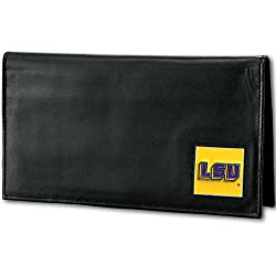 NCAA LSU Tigers Deluxe Leather Checkbook Cover