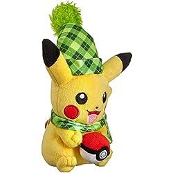 TOMY t19376d Pokémon Sol y Luna, Animales de Peluche, Pikachu como Peluche, Aprox. 20cm, a Partir de 3años
