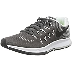 Nike Wmns Air Zoom Pegasus 33, Zapatillas de Running Mujer, Gris (Gris (Dark Grey/Black-White), 38 1/2 EU