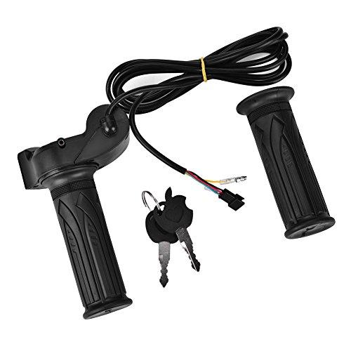 Alomejor Impugnatura Acceleratore da Bici Elettrica Impugnatura di Controllo Acceleratore con Blocco e LED di Tensione della Batteria per Biciclette Elettriche, Motorini, Scoot