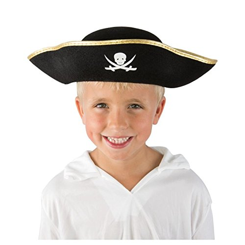Chapeau-de-Pirate-Enfant-noir--galon-dor