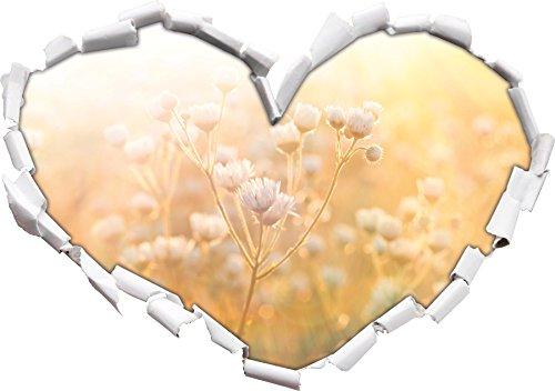 romantic-flower-meadow-heart-shape-in-the-3d-look-wall-or-door-sticker-format-92x645cm-wall-stickers