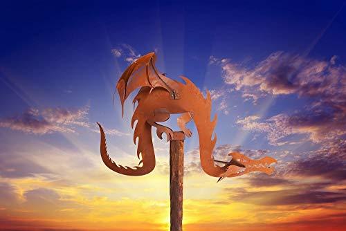 Ferrum Edelrost Drache Magic Dragon - inkl. Holzb,Gr.III, 1-0955