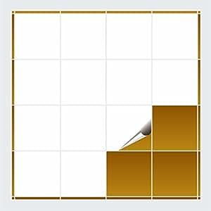 FoLIESEN - Fliesenaufkleber - weiss glänzend - 15cm x 15cm - 200 Stück