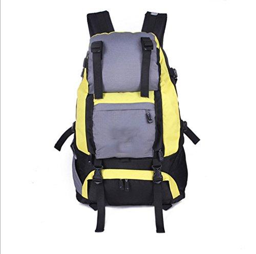 CHT Männer Im Freien Bergsteigen Tasche Mit Großer Kapazität Reiserucksack 40L 53 * 37 * 15cm Farbe Optional Yellow