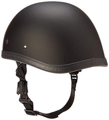 2271e78f Daytona Helmets Eagle Skull Cap Half Shell Motorcycle Helmet (Dull Black,  Large) with
