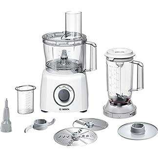 Bosch MCM3200W MultiTalent 3 – Robot da Cucina Compatto, 800W, Bianco/Grigio 375 x 220 x 260mm